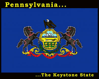 Painting - The State Flag Of Pennsylvania by Floyd Snyder