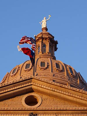 The State Of Texas Capital II Art Print