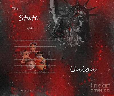 Digital Art - The State Of The Union by Kathie Chicoine