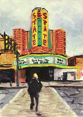 Painting - The State Theater Ann Arbor by Yoshiko Mishina