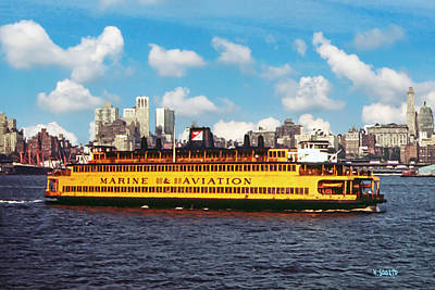 Digital Art - The Staten Island Ferry Around 1973 by Kai Saarto
