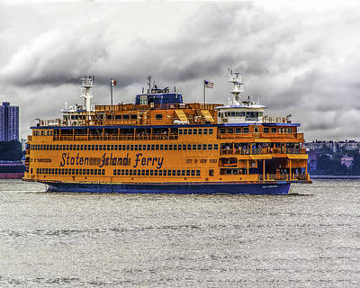 Photograph - The Staten Island Ferry by Nick Zelinsky