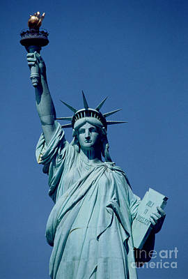 The Statue Of Liberty Print by American School