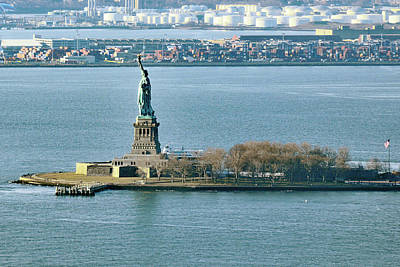 Photograph - The Statue Of Liberty As Seen From One World Trade Center by Harvey Barrison