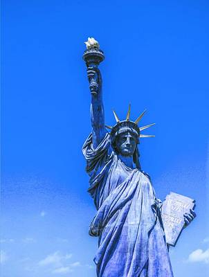 Painting - The Statue Of Liberty In New York City 2  In Infra Red by Celestial Images