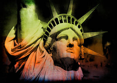 Digital Art - The Statue Of Liberty by Kim Gauge