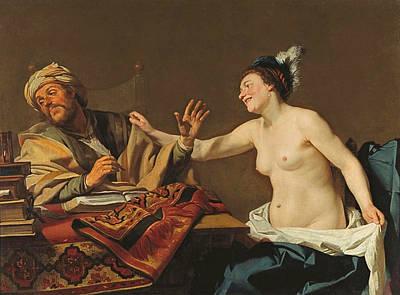 Painting - The Steadfast Philosopher by Gerrit van Honthorst