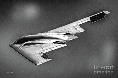 Photograph - The Stealth Bomber B-2 Spirit Bw by Rene Triay Photography