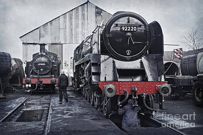 Photograph - The Steam Depot by David Birchall