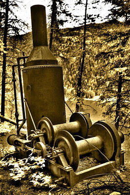 Photograph - The Steam Donkey by Kevin Munro