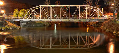 The Steel Bridge Art Print by Greg Mimbs