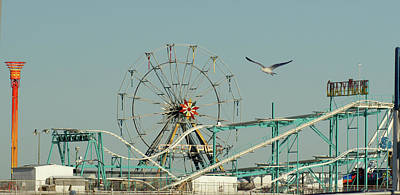 Photograph - The Steel Pier Amusements by Margie Avellino