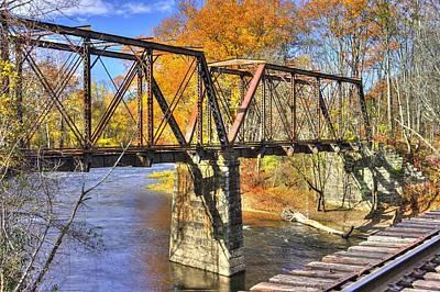 Montour Photograph - ...the Steel Rails Still Ain't Heard The News No. 1 - Near Rupert, Columbia County Pa by Michael Mazaika