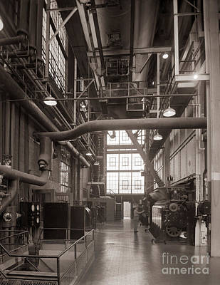 The Stegmaier Brewery Boiler Room Wilkes Barre Pennsylvania 1930's Art Print