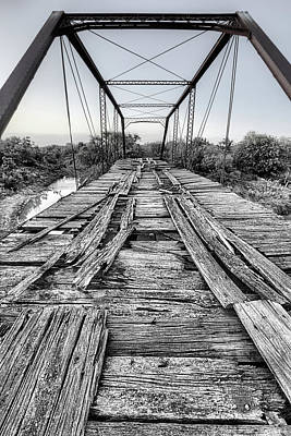 Photograph - The Steinman Bridge Black And White by JC Findley