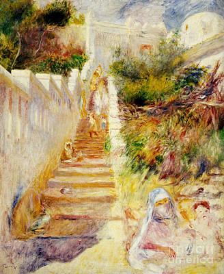 East Garden Painting - The Steps In Algiers by Pierre Auguste Renoir
