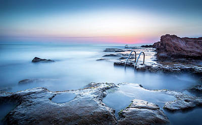 Photograph - The Steps Into The Sea by Gary Gillette