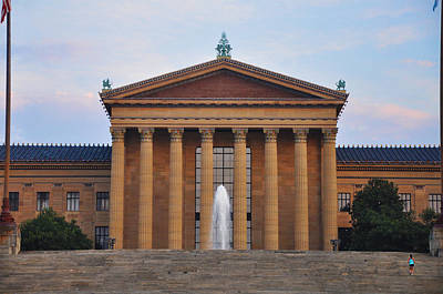 The Steps Of The Philadelphia Museum Of Art Art Print by Bill Cannon
