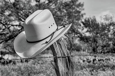 Photograph - The Stetson In Black And White by JC Findley