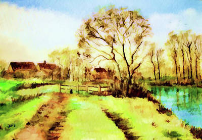 Painting - The Stile In Springtime-landscape Painting By V.kelly by Valerie Anne Kelly