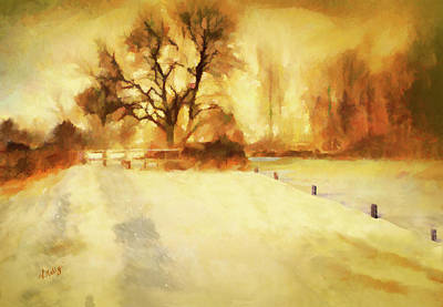 Painting - The Stile In Winter-landscape Painting By V.kelly by Valerie Anne Kelly