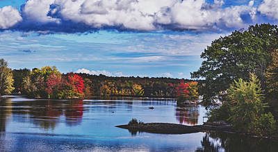 Photograph - The Stillwater River In Maine by Library Of Congress