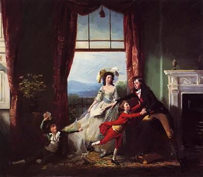 Painting - The Stillwell Family 1786 by Copley John Singleton