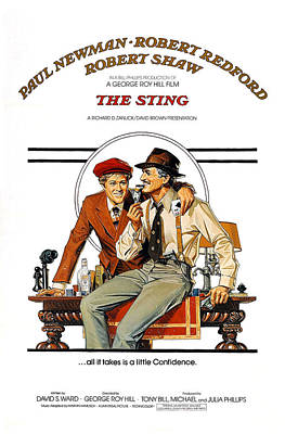 The Sting, The, Robert Redford, Paul Art Print by Everett