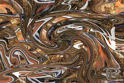 Digital Art - The Stirred Pot by rd Erickson