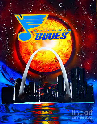Painting - The Stl Blues by Justin Moore