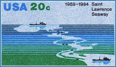 Approval Painting - The St.lawrence Seaway Stamp by Lanjee Chee