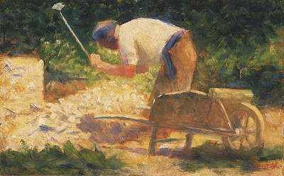 Weeding Painting - The Stone Breaker 1882 by Georges Seurat