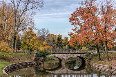 The Stone Bridge At Forest Lawn Art Print