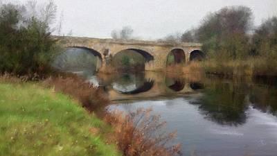 Digital Art - The Stone Bridge by Debra Baldwin