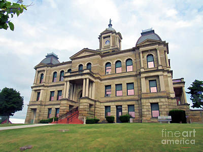 Photograph - The Stone County Courthouse  by Roberta Byram