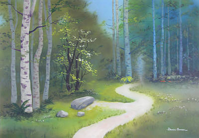 Painting - The Stone In The Clearing by Dominic Sanson