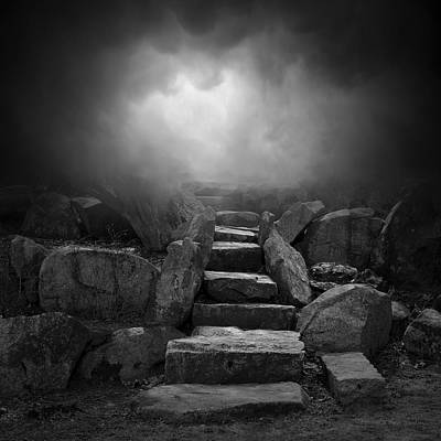Montage Photograph - The Stone Steps I by Dave Gordon