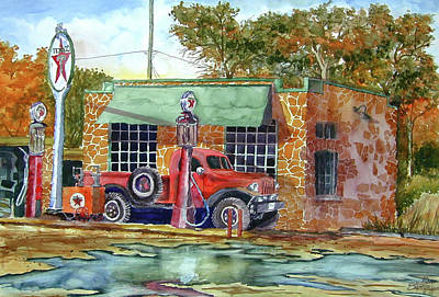 The Stone Texaco Art Print by Ron Stephens