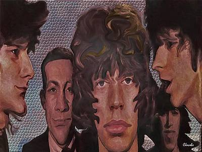 Mick Jagger And Keith Richards Digital Art - The Stones by Carole Jacobs