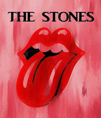 Music Paintings - The Stones Poster by Dan Sproul
