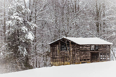 Barns In Snow Photograph - The  Stories I Could Tell by Lisa Bell