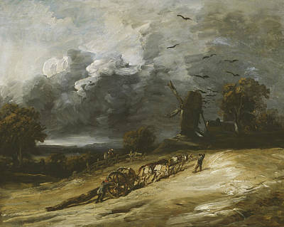 Storm Clouds Painting - The Storm by Georges Michel