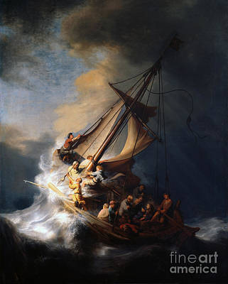 The Storm On The Sea Of Galilee 1633 Art Print
