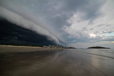 Photograph - The Storm Rolling In To Good Harbor Beach Gloucester Ma by Toby McGuire