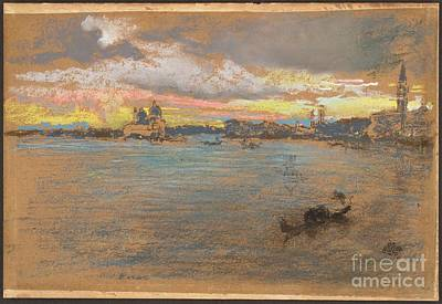 Whistler Painting - The Storm  Sunset by MotionAge Designs