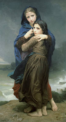 Painting - The Storm by William-Adolphe Bouguereau