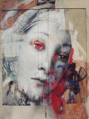 Contemporary Abstract Mixed Media - The Story Inyour Eyes  by Paul Lovering