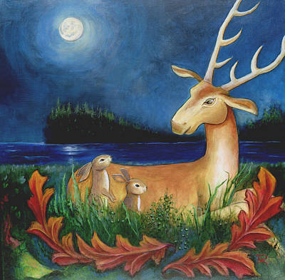 Art Print featuring the painting The Story Keeper by Terry Webb Harshman
