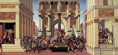 Ancient Roman Painting - The Story Of Lucretia by Sandro Botticelli