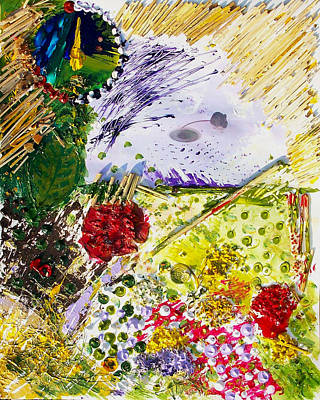 Devon Mixed Media - The Story Of The Mouse The Thatched Cottage And Dunchideock by Kasia Turajczyk